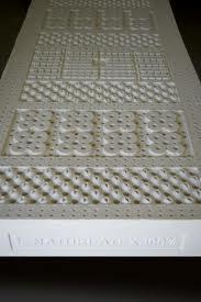 panoramica della lastra interna di lattice con dettaglio delle zone a portanza differenziata