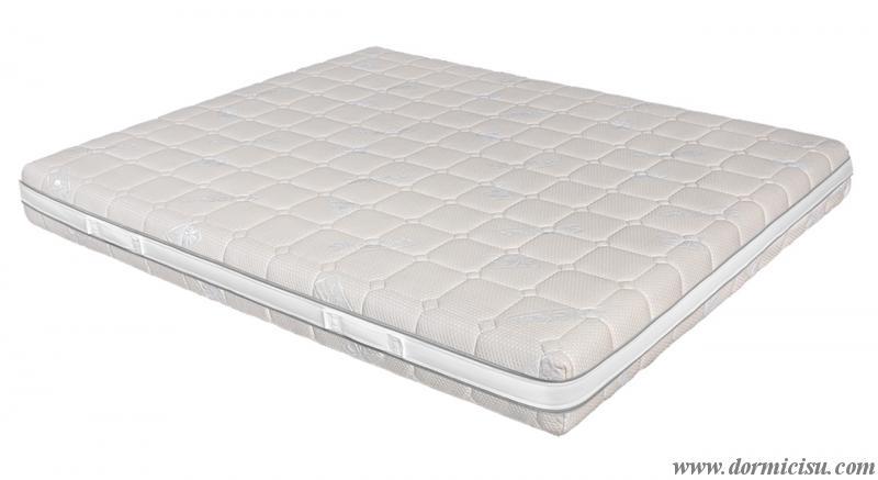 panoramica del materasso con rivestimento sfoderabile