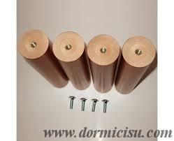 Gambe Per Reti Da Letto : Gambe in legno massello per rete dormicisu