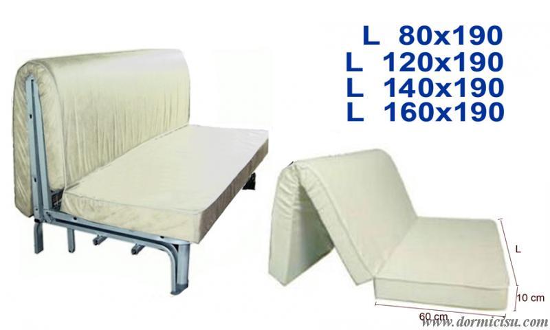 Materasso ortopedico indeformabile per prontoletto d30r for Divano letto materasso ortopedico