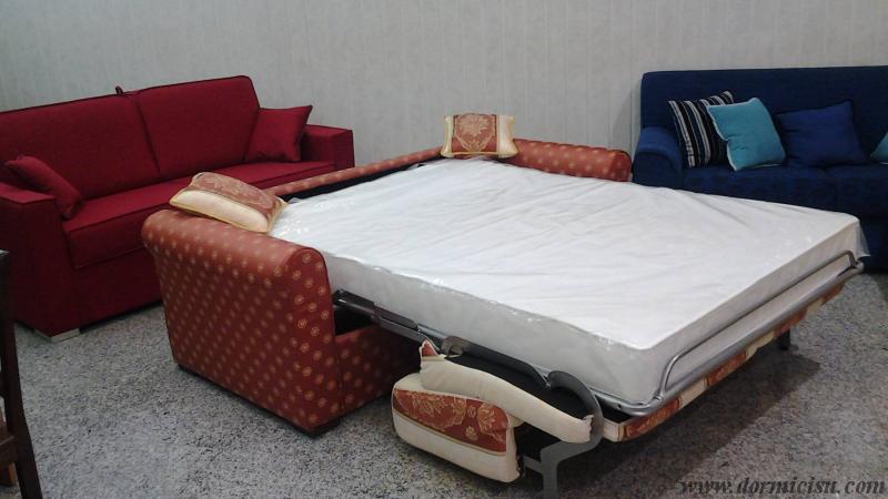 Divano letto mod. Sesamo MATERASSO alto 18 cm - Dormicisu.com
