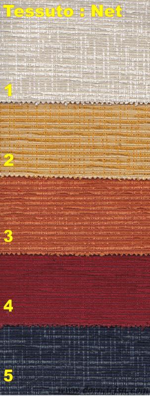 tessuti e colori del rivestimento