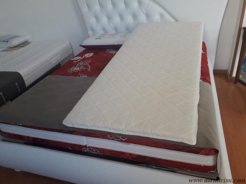 cuneo rivestito con tessuto cotone ed imbottitura fresco-cotone-Realizzata su misura su l'intera superfice del materasso.