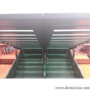 letto colore verde pino RAL su ordinazione
