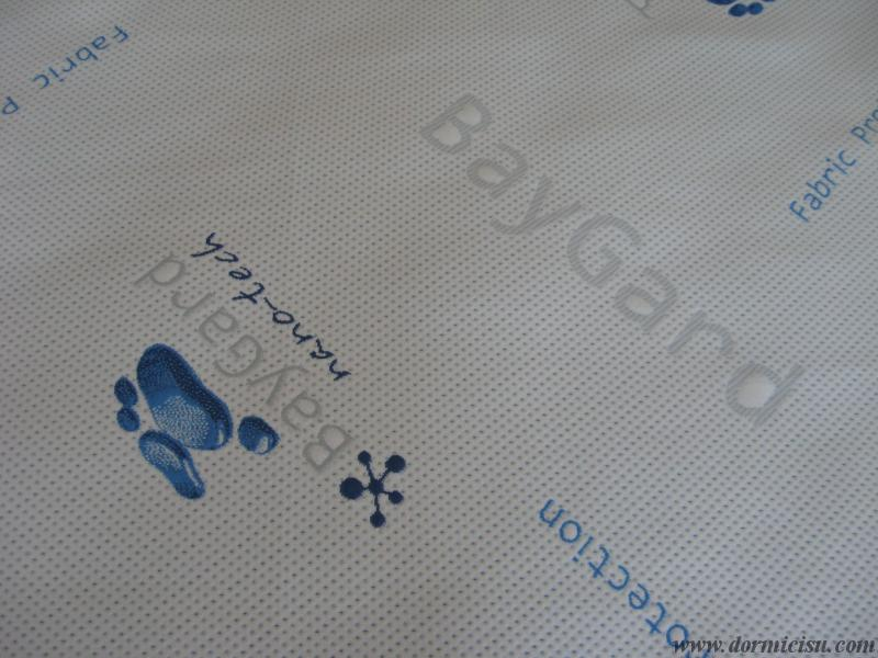 dettaglio tessuto idrorepellente