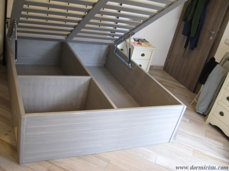 Letti Contenitore Economici : Letto contenitore in legno massello lavorazioni accessorie