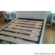 Rete a doghe larghe 3 traverse sostituita al letto del cliente.