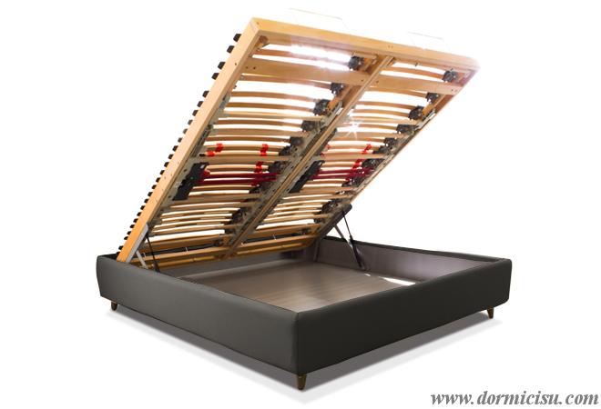 Sostituzione rete del letto cliente con base relax motorizzata - Sostituzione rete letto contenitore ...