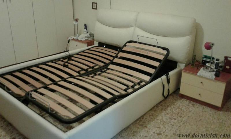 Sostituzione rete del letto cliente con base relax motorizzata - Testa del letto ...
