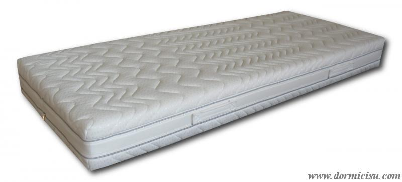 foto del materasso singolo rivestito con cover sfoderabile in cotone.