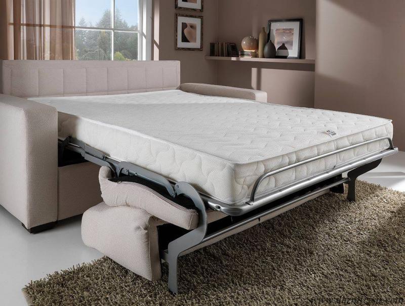 Divano letto con penisola mod dolly materasso alto 18 cm - Divani letto con materasso alto ...