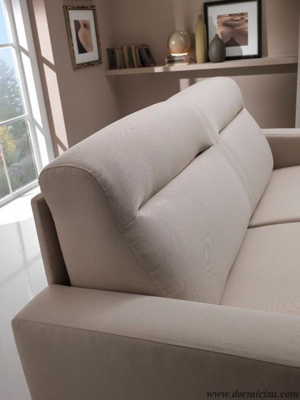 divano 2 posti vista laterale