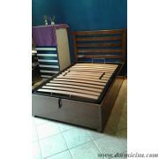 letto tutto legno realizzato su specifiche richieste dal cliente.