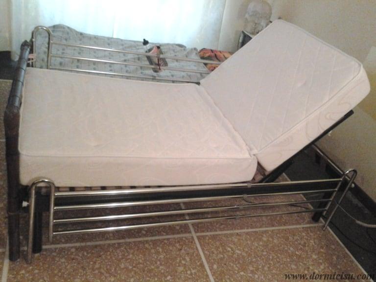 materasso alloggiato sul letto tipo A.S.L.
