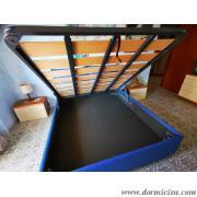 panoramica del letto con rete a doghe larghe 3 traverse