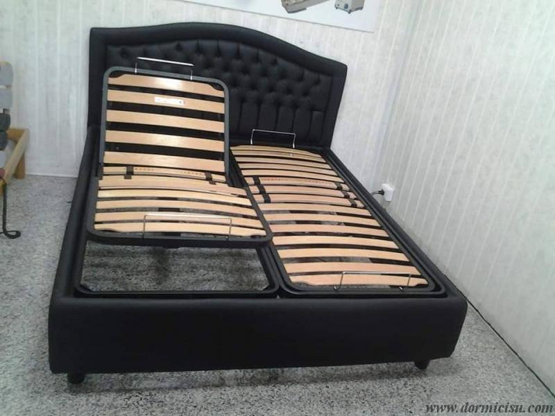 panoramica del letto con 1 sola rete alzata