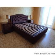 panoramica del letto con le reti abbassate
