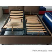 panoramica del letto con rete alza testa-piedi manuale foto puramente indicativa