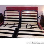 panoramica del letto con le 2 reti alzate