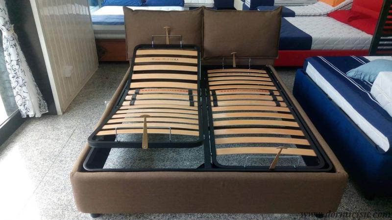 panoramica del letto con rete alza testa-piedi manuale