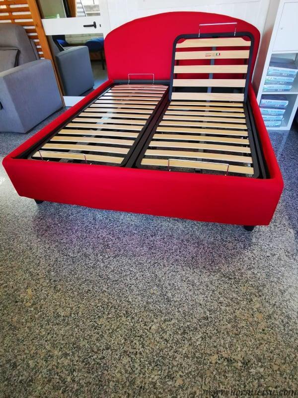 panoramica del letto Solaria con rete motorizzata alza testa piedi modello taglie forti.