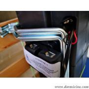 dettaglio batterie per utilizzo della rete in caso di blackout di corrente elettrica.