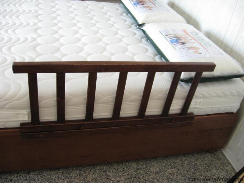 Spondina protettiva per letto contenitore.colore noce