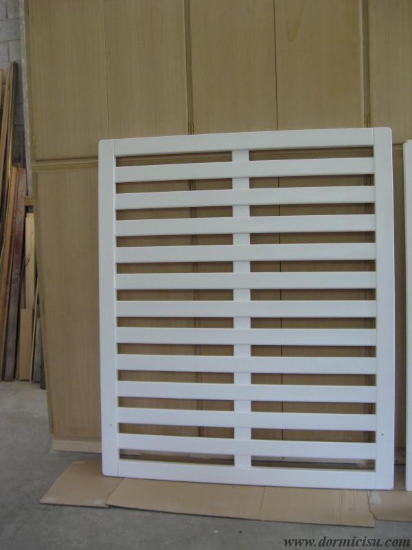Panoramica della rete tutto legno 5 piedi.Colore Bianco