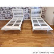 Panoramica delle reti tutto legno 5 piedi.Colore Bianco.Finitura Lucida.