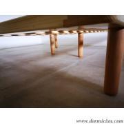 dettaglio piedi centrali rete con 6 piedi