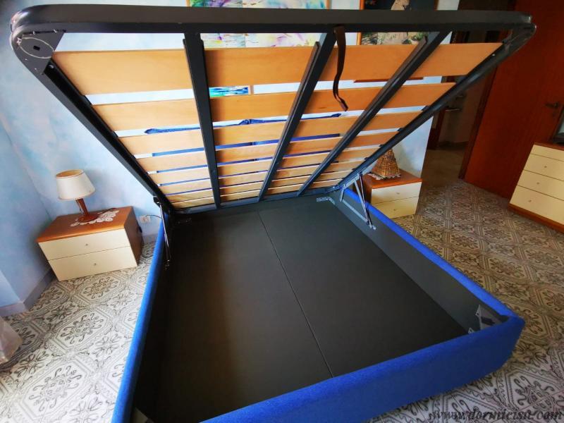 panoramica della rete taglie forti inserita nel letto del cliente