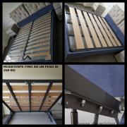 la rete puo' essere inserita anche nel letto contenitore del cliente o su un letto nuovo di nostra produzione.