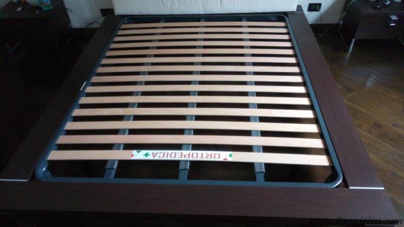 panoramica parte sopra della rete 3 barre matrimoniale,inserita nel letto del cliente.